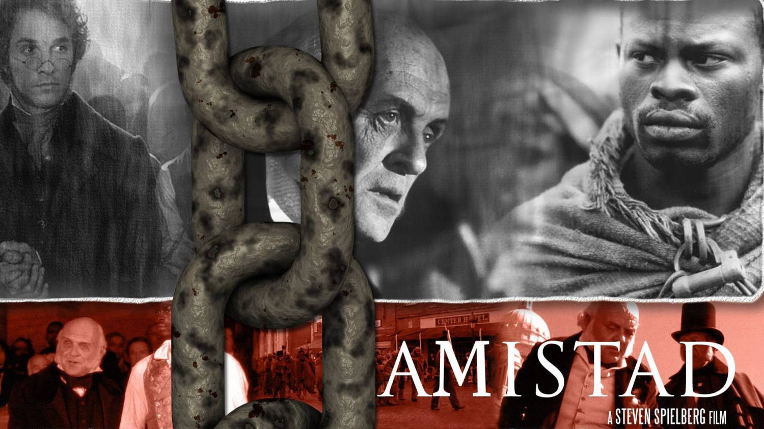 the theme of slavery and its beginnings in the film amistad by steven speilberg